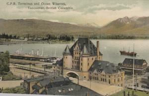 VANCOUVER , B.C. , 1910 ; C.P.R. Terminus & Ocean Wharves