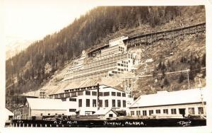 Alaska~Juneau Hillside Gold Mining Operation~Real Photo Postcard~RPPC c1928
