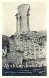 La Turbie, France, Carte, Postcard Real Photo- Tower of Victory La Turbie Rea...