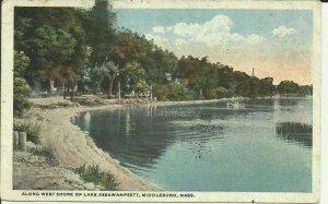 Middleboro, Mass., Along West Shore Of Lake Assawampsett