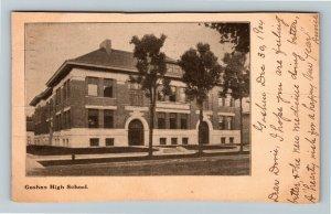 Goshen IN-Indiana, Goshen High School, Vintage c1904 Postcard