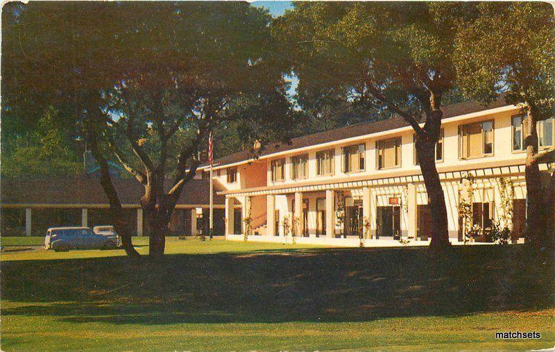 Autos 1950s Monterey Pebble Beach California Del Monte Lodge Postcard 10803
