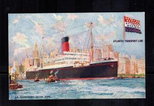 Mint Ship Picture Postcard SS Minnetonka Passenger Liner Steam Ship
