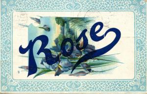First Name Greeting - Rose