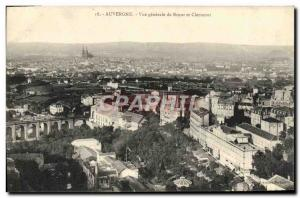 Old Postcard Auvergne Vue Generale Royat and Clermont