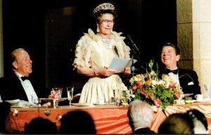 President Reagan and Queen Elizabeth In San Francisco 3 March 1983