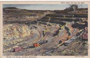 Open Pit Iron Ore MIne Mesabi Iron Range Northern Minnesota 1958 Curteich