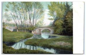 1910 Farnham Bridge, Richfield Springs, NY Postcard