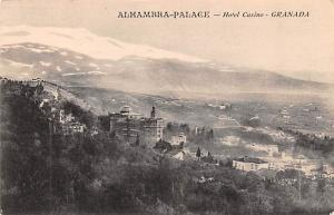 Spain Old Vintage Antique Post Card Alhambra Palace Hotel Casino Granada Unused