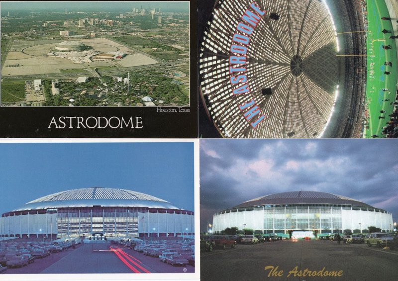 Houston Astrodome Astros Turf Invention NFL Baseball 4x USA TX Postcard s