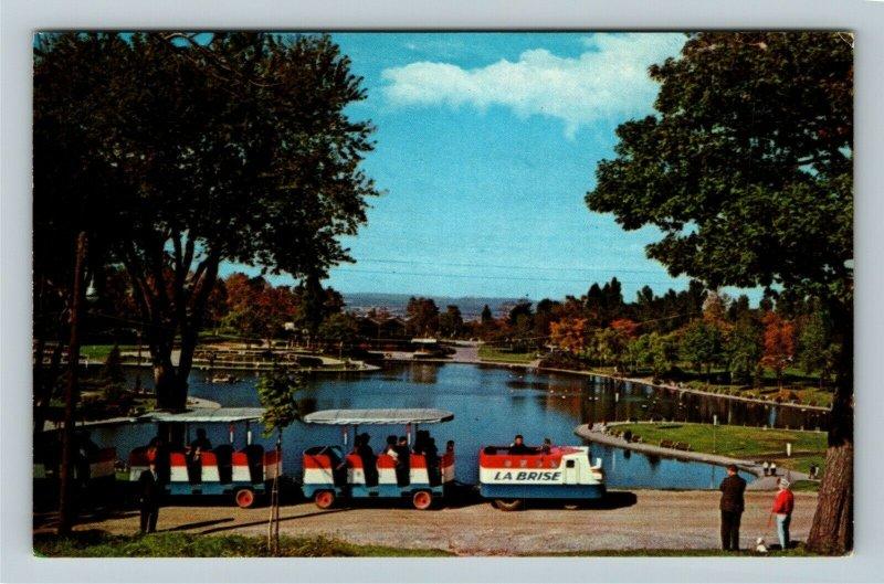 Montreal Quebec-Canada, Beaver Lake, Mount Royal Park, Chrome Postcard