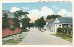 Main Street from the Nelwon House - Yorktown VA, Virginia - WB