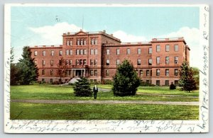 Lansing Michigan~Agricultural College~Woman's Building~Man on Lawn~1905