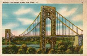 US    PC1619  GEORGE WASHINGTON BRIDGE, NEW YORK CITY