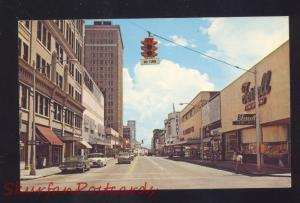 JACKSONVILLE FLORIDA 1950's DOWNTOWN STREET SCENE VINTAGE