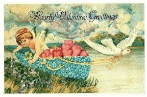 Valentin Voeux Ange & Colombe Avec / Cœurs Lillian Vernon Hong Kong Carte