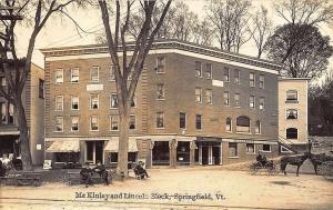 Springfield VT Coburn & Walker Millinery Wheelers Watch Jewery Store Postcard