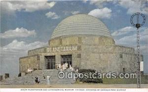Space Postcard Post Card Chicago, USA Adler Planetarium & Astronomical Museum...