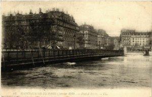 CPA PARIS 4e Indonations 1910. Pont d'Arcole (464219)