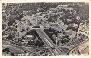 Seattle WA~University of Washington Campus Bird's Eye View~1942 RPPC-Postcard