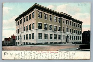 FALL RIVER MA TEXTILE SCHOOL ANTIQUE POSTCARD