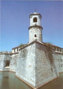 Postal 023335 : Torre del homenaje, Castillo de la Real Fuerza, Habana Coloni...