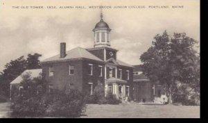Maine Portland The Old Tower Alumni Hall Westbrook Junior College Artvue