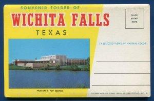 Wichita Falls Texas tx Sheppard AFB Eighth Street YMCA Postcard Folder