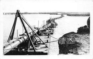 Glasgow Montana~Dredge Material Pumped in Pipeline @ Fort Peck Project~'30s RPPC
