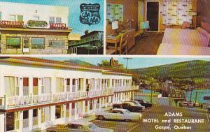 Canada Quebec Gaspe Adams Motel & Restaurant 1965