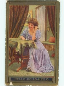 Divided-Back PRETTY WOMAN Risque Interest Postcard AA8316