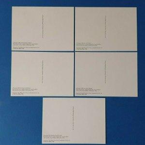 Set of 5 PHQ Stamp Postcard Set No.184 Christmas 1996 + free gift BQ1