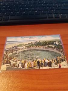 Antique/Vintage Florida Postcard, Top Deck of Marine Studios - Marineland, Fla.