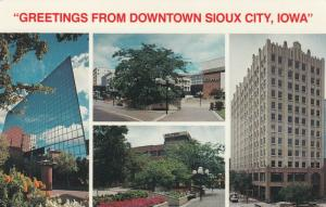 SIOUX CITY , Iowa, 1987; Greetings from Downtown, 4-views