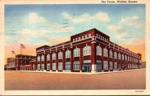 Kansas Wichita The Forum 1944 Curteich