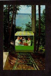 WI Chateau Madeleine Resort Railway Railcar LaPointe Wisconsin Postcard