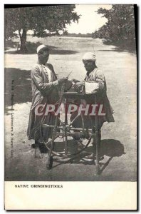 Old Postcard Native Grindingtools Remouleur Egypt Egypt