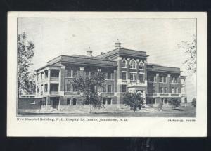 JAMESTOWN NORTH DAKOTA HOSPITAL FOR THE INSANE ASYLUM VINTAGE POSTCARD ND