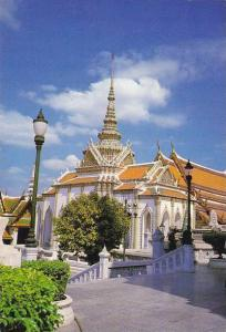 Thailand Bangkok View Of Temple Phra Keo