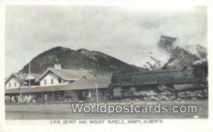CPR Depot & Mt Rundle Banff, Alberta Canada Unused
