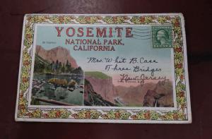 Yosemite National Park California Scenic View Fold Out Postcard Folder J926460