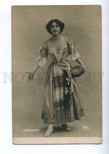 193773 Lina CAVALIERI Italian OPERA Dancing TAMBOURINE Photo