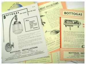 Collection of printed advertising sales brochures leaflets Bottogas Spensers Ltd