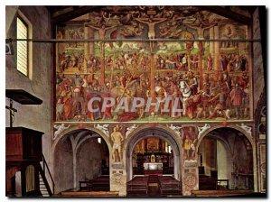 Postcard Modern Chiesa degli Angeli Lugano Crocifissione Luini