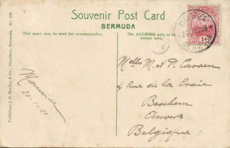 bermuda, HAMILTON, Hotel Hamilton (1920) Stamp