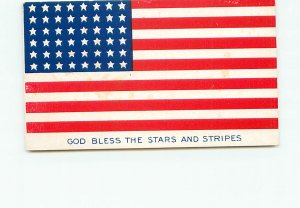 Buy Postcard God Bless Sars and stripes United States Flag 48 States