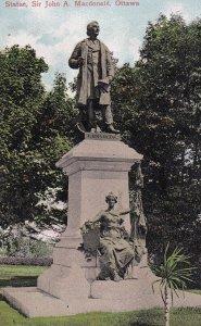 OTTAWA, Ontario, Canada, 1900-1910s; Statue, Sir John A. Macdonald