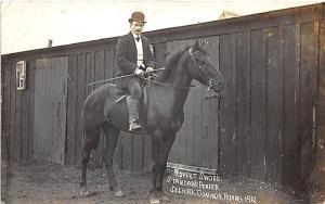Robert Sword Standard Bearer Horse Selkirk Common Riding 1910 RPPC Postcard
