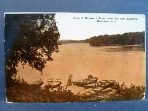 Postcard NJ Belvidere View of Delaware River from the Boat Landing 1915