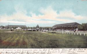 YORK , Pennsylvania,1906 ; A Snapshot on York Fairgrounds